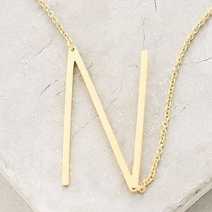 Anthropologie Initial N Necklace